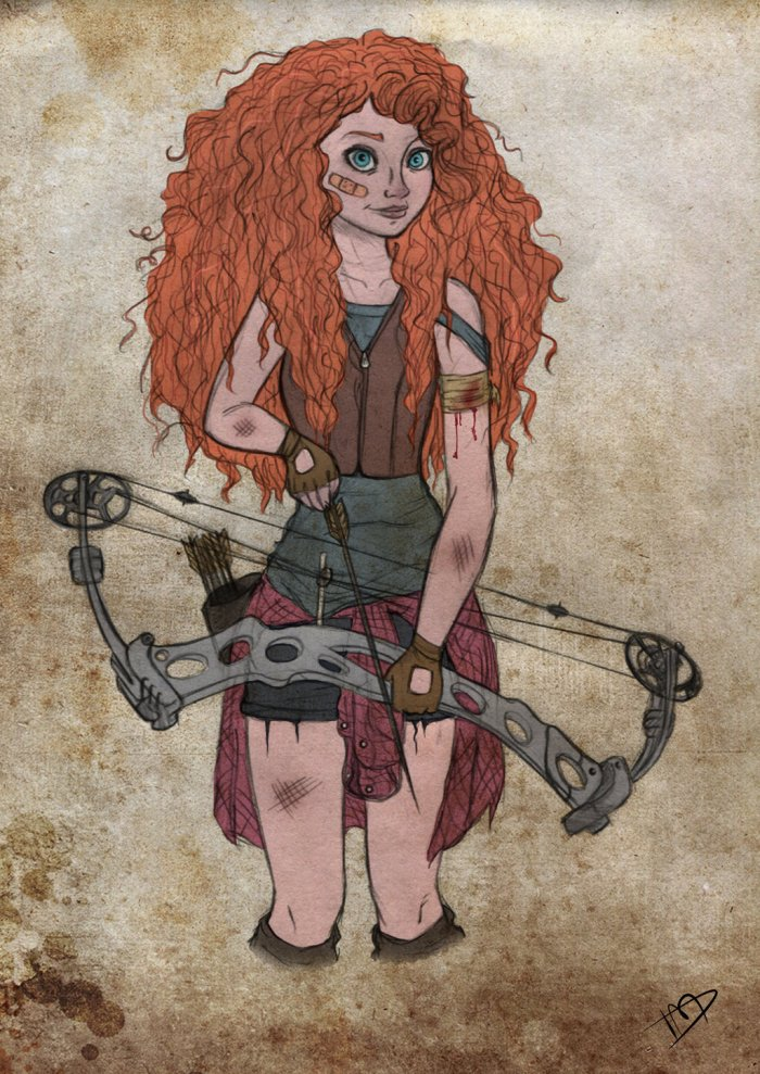 the_walking_disney_pixar___merida_by_kasami_sensei-d79q92u